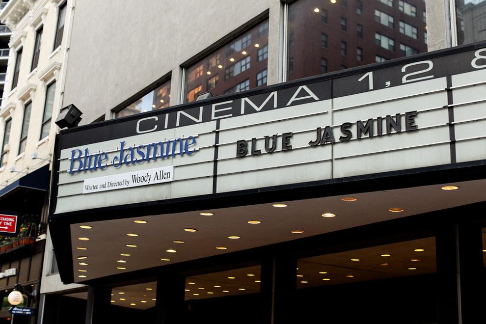 Blue Jasmine en un cine de Nueva York - Fotografía de Leila Jacue